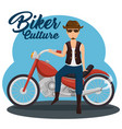 biker culture bikers riding motorbikes vector image vector image