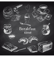 breakfast hand drawn set Vintage vector image