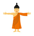 Buddha happy Indian god spread his arms in an vector image