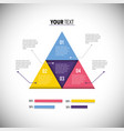 business diagram with infographic information vector image