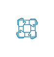business partnership linear icon concept vector image vector image
