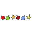 christmas toys set doodles vector image vector image