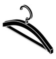 clothes hanger icon simple style vector image vector image