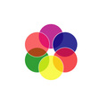 Colorful circles- color scheme vector image
