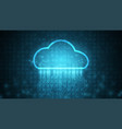 computing cloud technology data storage vector image