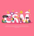 customer relationship management background vector image vector image