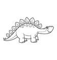 cute cartoon dinosaur stegosaurus character vector image vector image