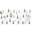 cute winter trees seamless pattern on white vector image vector image