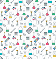 Drawing chemical seamless pattern Chemical vector image vector image