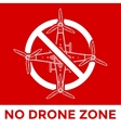 drone prohibited sign vector image
