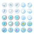 Electronic device icons in cartoon style vector image vector image