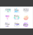 fashion luxury boutique set for logo design vector image vector image