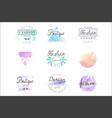fashion luxury boutique set for logo design vector image vector image