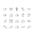 finger line icons signs set outline vector image vector image
