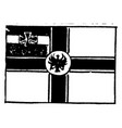 flag germany 1913 vintage vector image vector image
