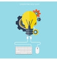 Flat bulb Ideas finding concept background vector image