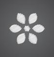 flower sketch logo doodle icon vector image vector image