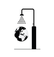 globe under shower vector image vector image