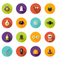Halloween Flat Circle Icons Set vector image vector image