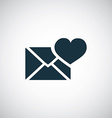 heart mail icon vector image