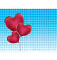 Heart Shaped Balloons2 vector image