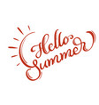 hello summer words on white background frame vector image vector image