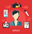 journalist design concept vector image
