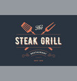 label of steak grill restaurant vector image vector image