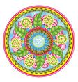 Leafy mandala vector image