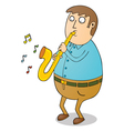 Man playing saxophone vector image vector image