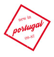 new in portugal rubber stamp vector image vector image