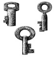 old style key vector image