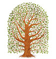 old tree isolated on transparent background vector image vector image