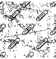 Paperclip pattern grunge monochrome vector image vector image