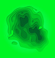 papercut green gradient multi layer background vector image