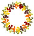 pastel autumn laurel wreath frame on white