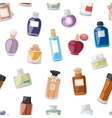 Perfume bottle seamless pattern vector image