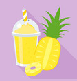 pineapple smoothie or juice vector image vector image