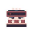 professional coffee machine icon coffee shop vector image
