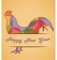 Retro greeting card vector image vector image