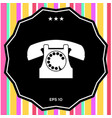 retro telephone symbol vector image