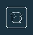 sandwich icon line symbol premium quality vector image vector image