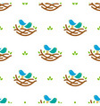seamless pattern with colorful singing birds in vector image