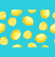 seamless pattern with lemons and slices vector image