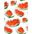 seamless texture with slices of watermelons and vector image