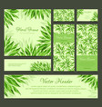 Set of banners business card frame and headers vector image