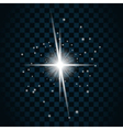 Shine star sparkle icon 19a vector image vector image