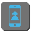 Smartphone Operator Contact Portrait Rounded vector image vector image