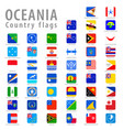 square oceania national flags