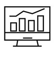 stats icon vector image